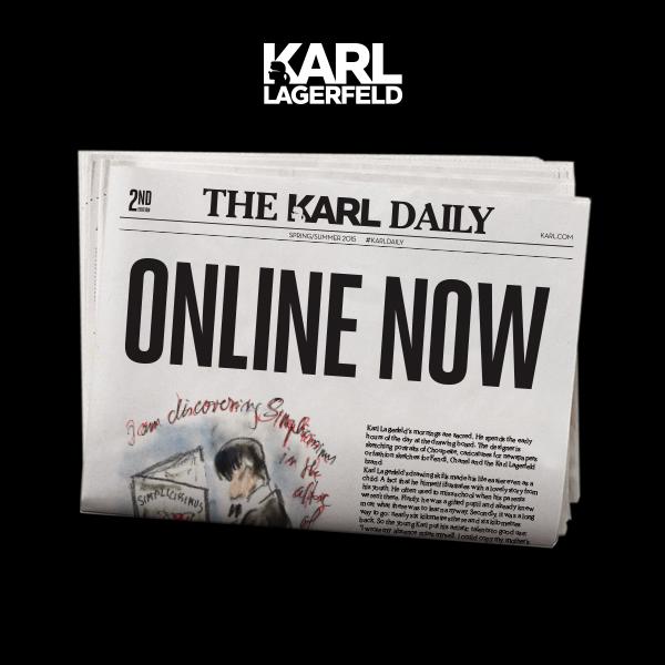Karl Lagerfield'in online dergisini gördünüz mü?